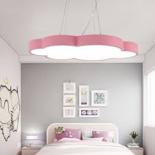 Cloud Shape Led Hanging Pendant Lights Kids Room Metal 1 Light Pendant Lamp In Acrylic Beautifulhalo Com