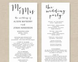stylish wedding program template