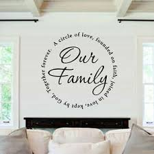 Our Family Wall Decal Inspiration Circle Of Love Quote Vinyl Art Home Room Decor Ebay