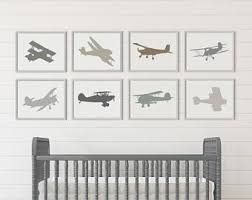 Airplane Room Decor Etsy