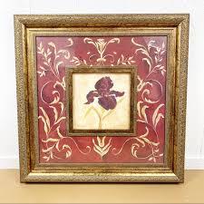Kirklands Wall Art Vine Iris Flower 30 Inches Poshmark