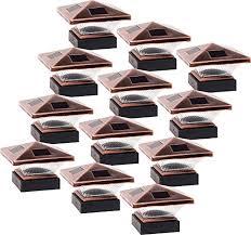 Greenlighting 12 Pack Siena Solar Post Cap Deck Light For 4x4 Nominal Wood Or 4x4 5x5 Pvc Vinyl Posts Bronze On Galleon Philippines