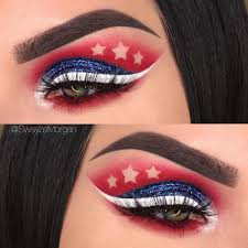 simple 4th of july makeup saubhaya makeup