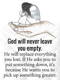 god will never leave you empty steemit