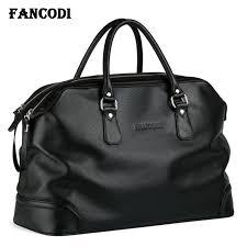 luxury men genuine leather travel bag