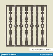 Square Fence Lattice Panel Railings With Classic Balusters Stock Vector Illustration Of Carving Laser 184770744
