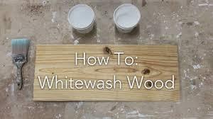 How To Whitewash Wood Youtube