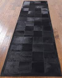 cowhide patchwork runner rug leather