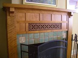 arts and crafts fireplace mantel