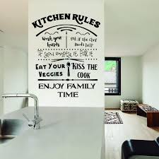 Kitchen Rules Decal Dining Room Wall Decal Kitchen Decal Sticker Kitchen Rules Sign My Wash Your Hands Decal Kiss J937 Wall Stickers Aliexpress