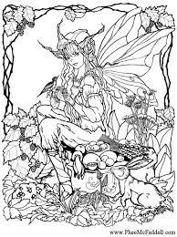 Kleurplaat Elf In Het Bos Gratis Kleurplaten Om Te Printen