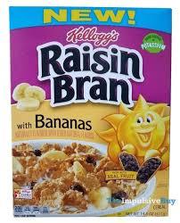 raisin bran with bananas