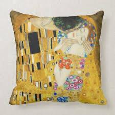 gustav klimt the kiss pillow artfo