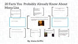 20 Facts You Probably Already Know About Mona Lisa by Alana Griffin