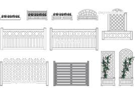 Flower Bed And Wooden Fences Dwg Free Cad Blocks Download