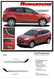 Runaround Ford Escape Upper Body Line Stripes Vinyl Graphics Decal Kit For 2013 2019 Models Moproauto Professional Vinyl Graphics And Striping