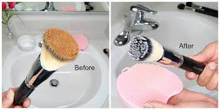 wash makeup brushes at home faster