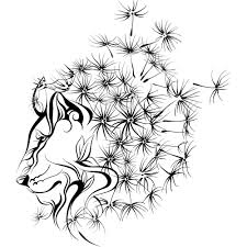 Lion With Mane Of Dandelion On The Wall Best Deals With Free Uk Standard Delivery Mizzli