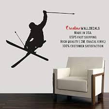 Amazon Com Wall Decal Vinyl Sticker Decals Art Decor Design Skiing Ski Sport Snowboard Mans Gift Extrime Jumping Bedroom Modern Fashion R495 Home Kitchen
