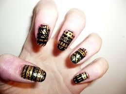 simple nail art design for short