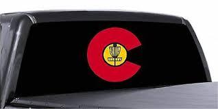 Colorado State Disc Golf Basket Vinyl Decal Sticker For Car Truck Window Bogo Ebay