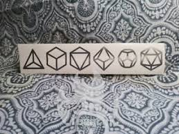 Dnd Dice D D Dungeons Dragons 8 5 Vinyl Decal Sticker Gaming Rpg D4 D6 D8 D12 Ebay