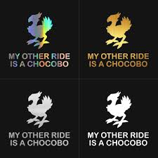 Tancredy My Other Ride Is A Chocobo Car Bumper Stickers And Decals Car Styling Decoration Door Body Window Vinyl Stickers Car Stickers Aliexpress