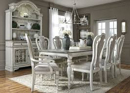 Magnolia Manor Antique White Extendable Rectangular Leg Dining Room Set 1stopbedrooms