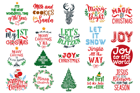 christmas bundle christmas quotes in svg dxf cdr eps ai