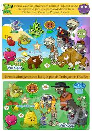 Plantas Vs Zombies Candy Bar Fiesta Kit Imprimible Plantas Vs