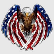 Bald Eagle Usa American Flag Decal Sticker Car Vinyl Die Cut Pick Size