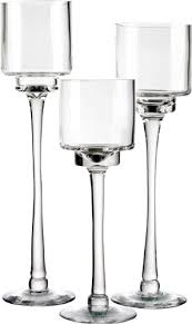 tall glass candle holders in decors