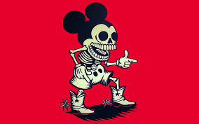 hd wallpaper mickey mouse skeleton