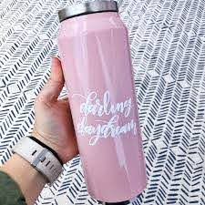 Custom Name Decal Custom Saying Vinyl Decal Water Bottle Etsy Water Bottle Stickers Bottle Stickers Bottle