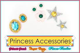 Super Mario Princess Accessories Princess Peach Brooch Etsy