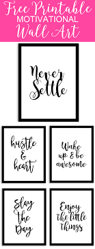 Free Printable Wall Art From Chicfetti Perfect For Your Office Of A Gallery Wall Free Printable Wall Art Wall Printables Inspirational Wall Art