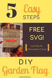 diy garden flag tutorial applying htv