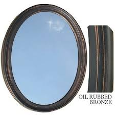 bathroom mirror vanity oval framed wall