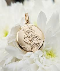 solid 9ct yellow gold st christopher