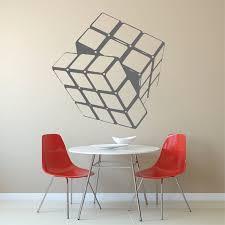 Rubik Cube Vinyl Wall Decal Sticker Murals Trendy Wall Designs