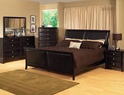 Espresso Finish Transitional Bedroom Set W Bicast Inserts