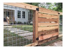 17 Awesome Hog Wire Fence Design Ideas For Your Backyard Coffee Rh Pinterest Com 1001 In 2020 Diy Garden Fence Fence Planning Backyard Fences