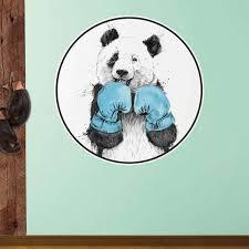 Boxing Panda Bear Wall Decal The Winner By Balazs Solti