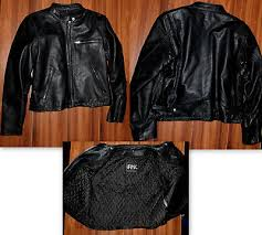 fmc las leather motorcycle vest