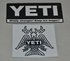 New Yeti Cooler Wildy Stronger Coolers Built For The Wild Stickers Decals Ebay