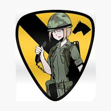 1st Cavalry Division Girl Sticker By Fareast Redbubble
