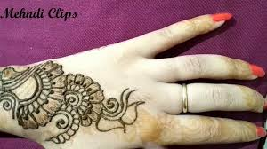mehndi design for back right hand
