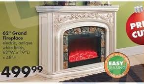 62 in grand fireplace antique white