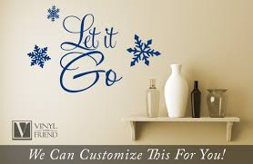 Let It Go Quote From The Movie Frozen A Home Wall Decor Vinyl Lettering Decal Word 2433