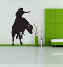 Bull Rider Cowboy Western Kids Room Decoration Wall Decals Vinyl Stickers Home Decor Living Room Wall Pictures Wish